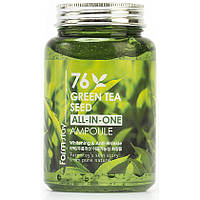 Многофункциональная ампульная сыворотка с семенами зеленого чая Farm Stay Green Tea Seed All-In-One, 250 мл