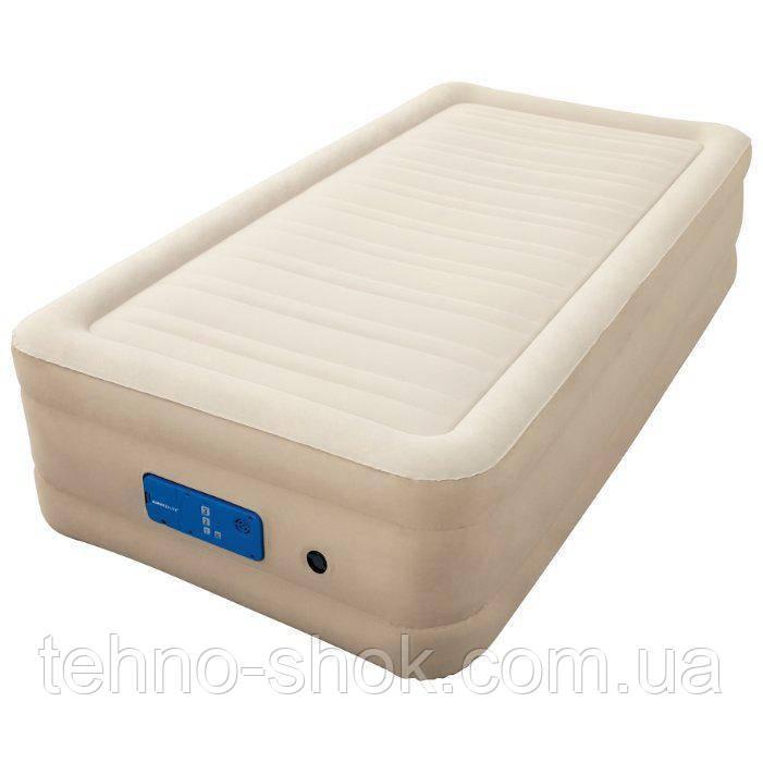 Надувная кровать Bestway 69030 Alwayzaire Fortech 191х97х43см, встроенный электронасос с автоподкачкой