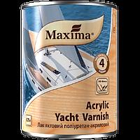 """Лак яхтный полиуретан-акриловый глянцевый ТМ """"Maxima"""" (бесцветный) 0,75 л"""