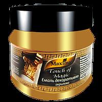 Эмаль декоративная акриловая Maxima серебро 0,1 л, фото 1