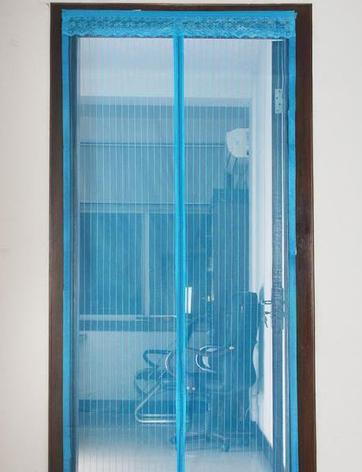 Москитная сетка, штора на магнитах синяя 210 х 100 см, фото 2