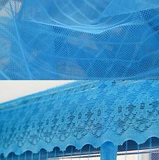 Москитная сетка, штора на магнитах синяя 210 х 100 см, фото 3
