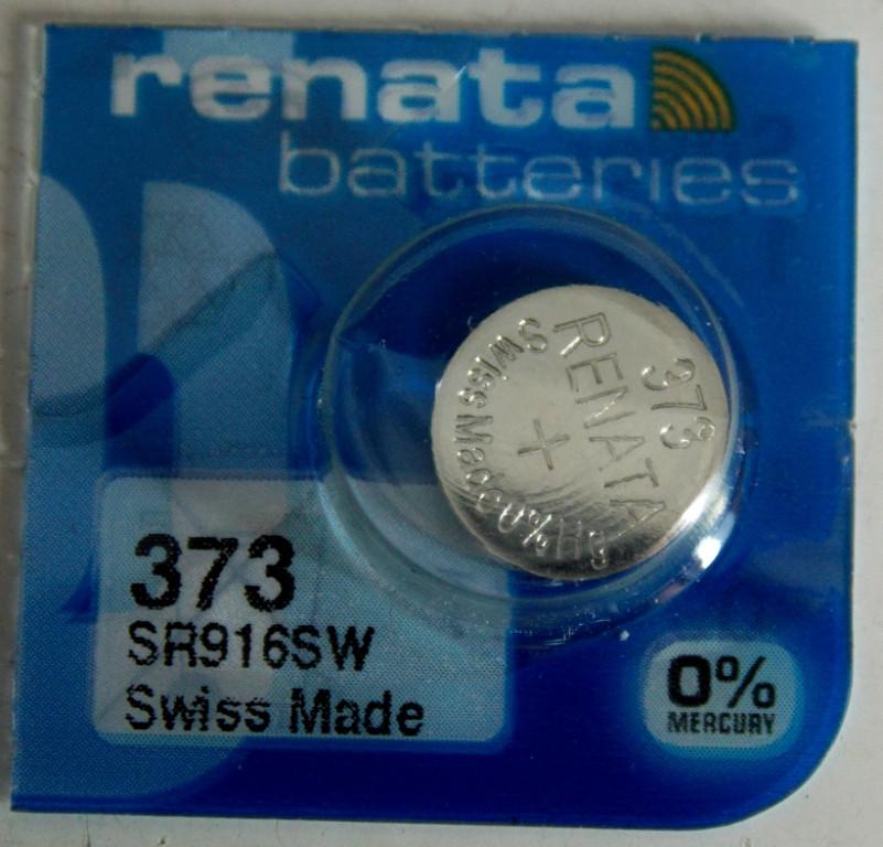 Батарейка для часов  RENATA 373 SR916
