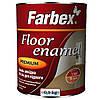 Эмаль алкидная ПФ-266 для пола Farbex красно-коричневая 0,9 кг