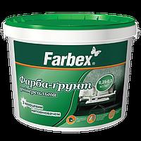 Краска-грунт универсальная Farbex с кварцевым наполнителем, 4.2 кг (белая)