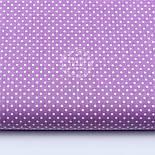 """Лоскут ткани """"Густой горошек 2 мм"""" на сиреневом фоне, №1643а, фото 2"""