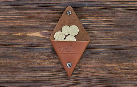 Монетница ручной работы из кожи Краст VOILE cn1-klcog, фото 2