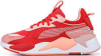 "Женские кроссовки Puma RS-X Toys ""Bright Peach / High Risk Red"" Пума красные"