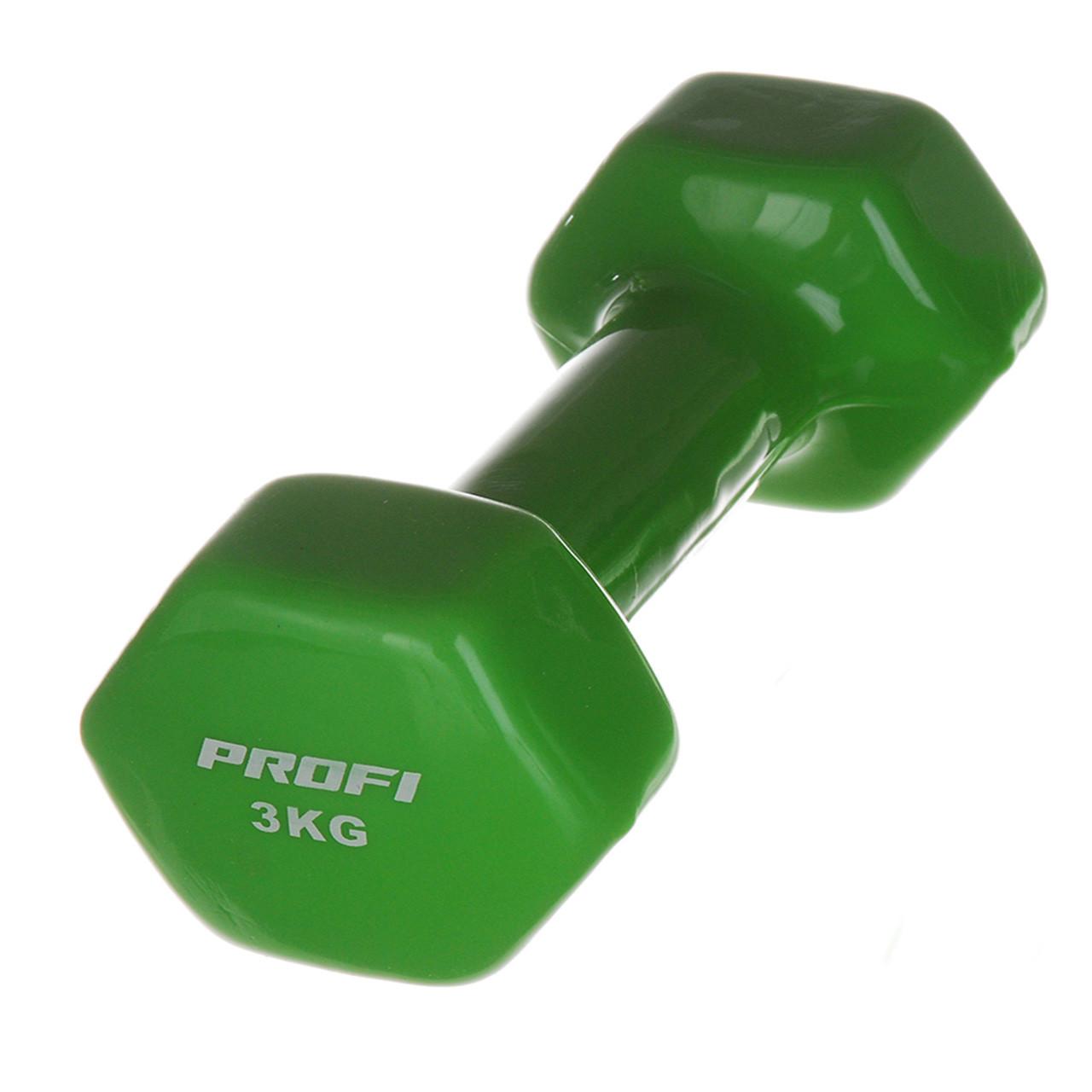 Гантель Profi 3 кг (0291) Салатовая