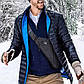 Мужская сумка CrossBody - удобная сумка Мессенджер Темно-серая, Нож-кредитка в Подарок  , фото 10