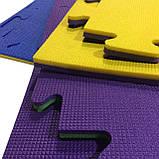 Коврик-пазл, татами ласточкин хвост,  т. 20 мм пенополиэтилен, 100х100 см, плотность 50 кг/м3, TERMOIZOL®, фото 8