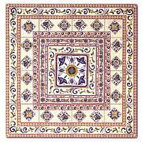 Керамическая плитка мозаика панно на пол Guadalerzas Roseton Gresmanc размер 1270x1270 мм.