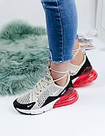 Кроссовки женские Nike Air Max 270 красный балон ТОП реплика