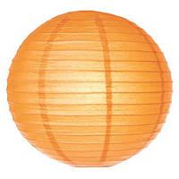 Свадебный декор шар плиссе 25 см оранжевый