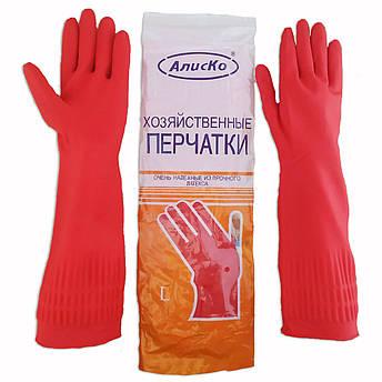 """Перчатки резиновые длинные, хозяйственные, прочные, утеплённые, """"Алиско"""", размер — L, фото 2"""