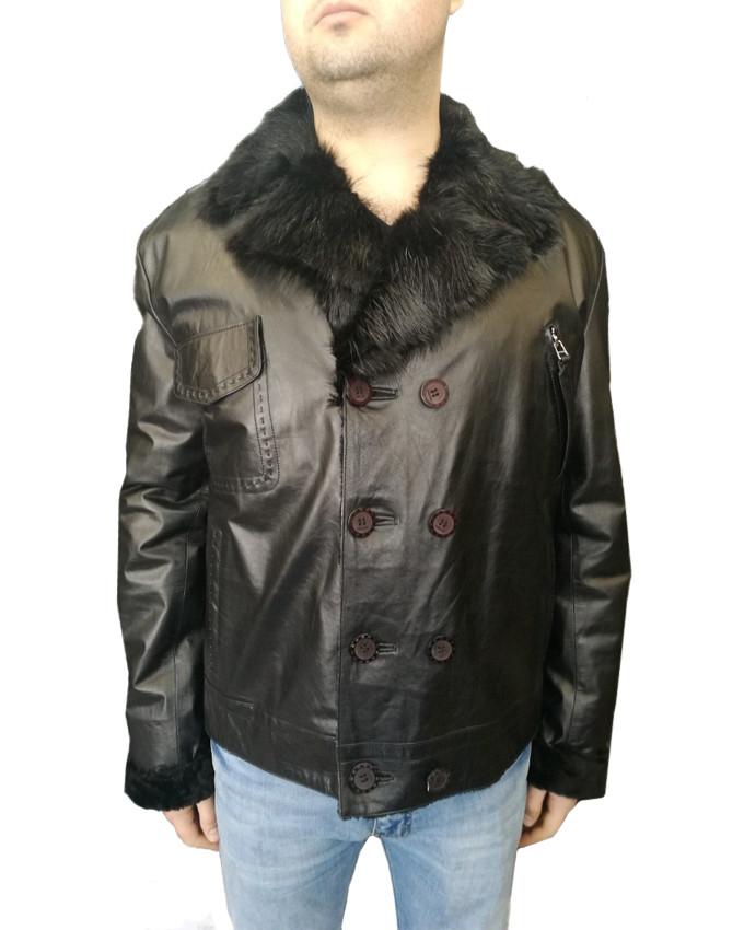 Дубленка мужская Oscar Fur 358 Черный