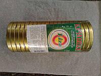 Крышка закаточная Твист - 82, лак золотая с логотипом по 20 шт, Liza