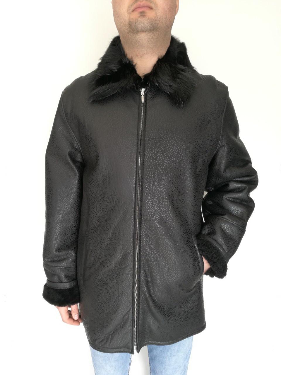 Дубленка мужская Oscar Fur 359 Черный