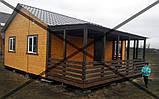Дачные сборные каркасные дома из цельного  материала!, фото 2