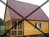 Дачные сборные каркасные дома из цельного  материала!, фото 4