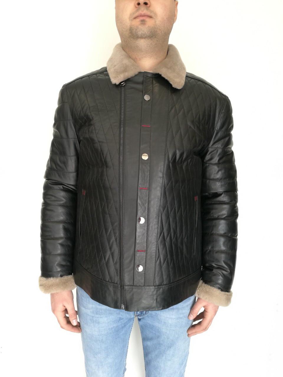 Дубленка мужская Oscar Fur 406 Черный, фото 1
