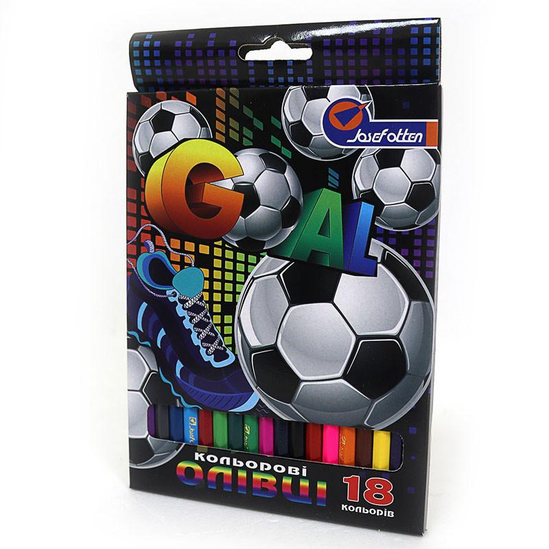 """Карандаши деревянные цветные """"Football"""" 18 цв., J. Otten, 7303BJ_18"""