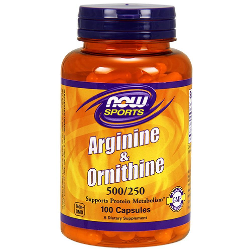 NOW - Arginine & Ornithine 500/250 (100 caps) \ Аргинин с орнитином