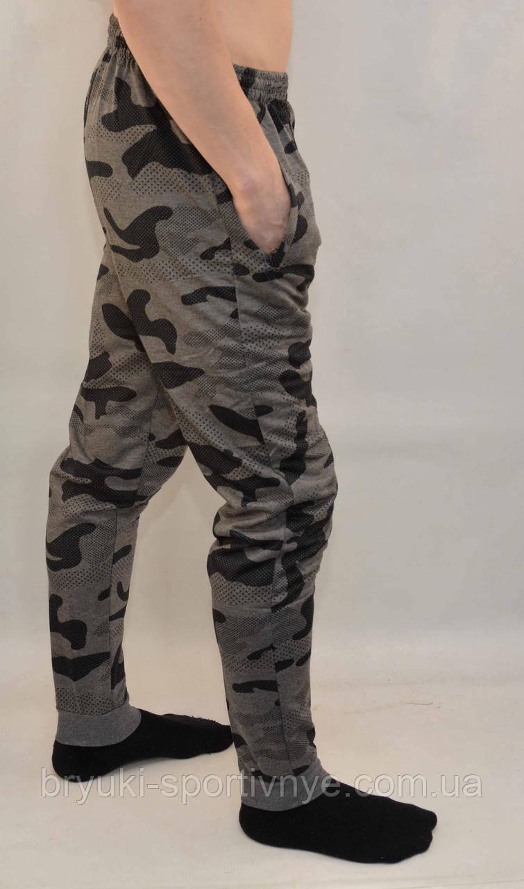 Штаны мужские трикотажные под манжет - камуфляж Брюки мужские камуфляжные - трикотаж