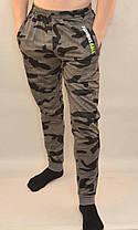 Штаны мужские трикотажные под манжет - камуфляж Брюки мужские камуфляжные - трикотаж, фото 3