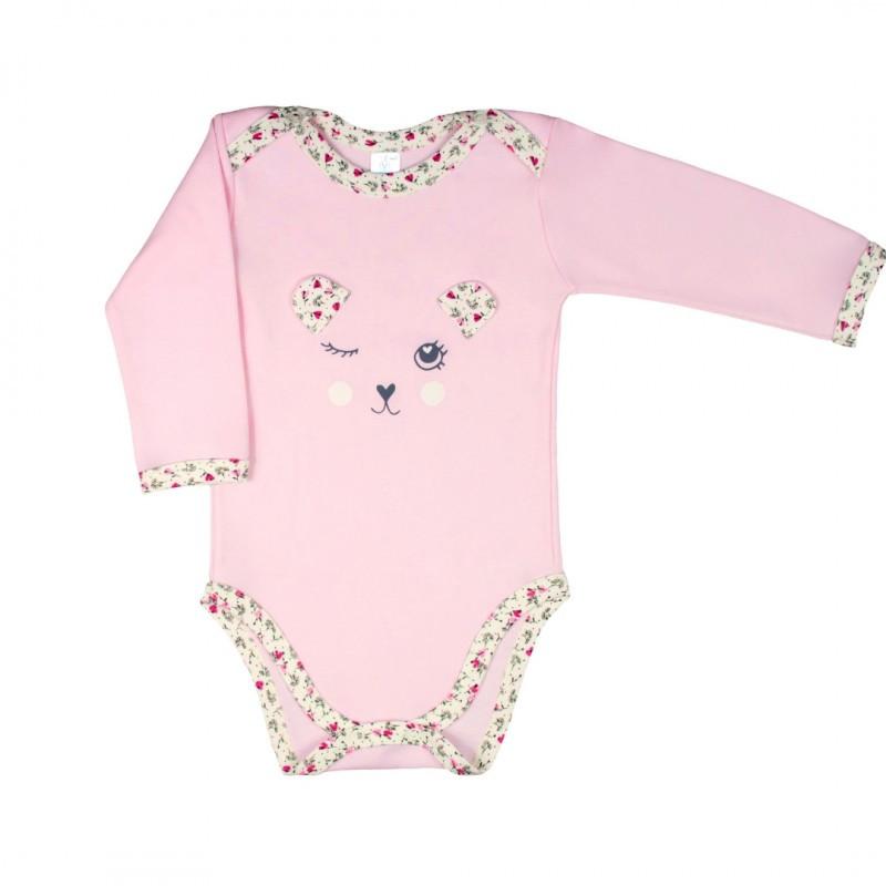 Боди сплошной для новорожденных Верес My Cuties интерлок 62 см розовый