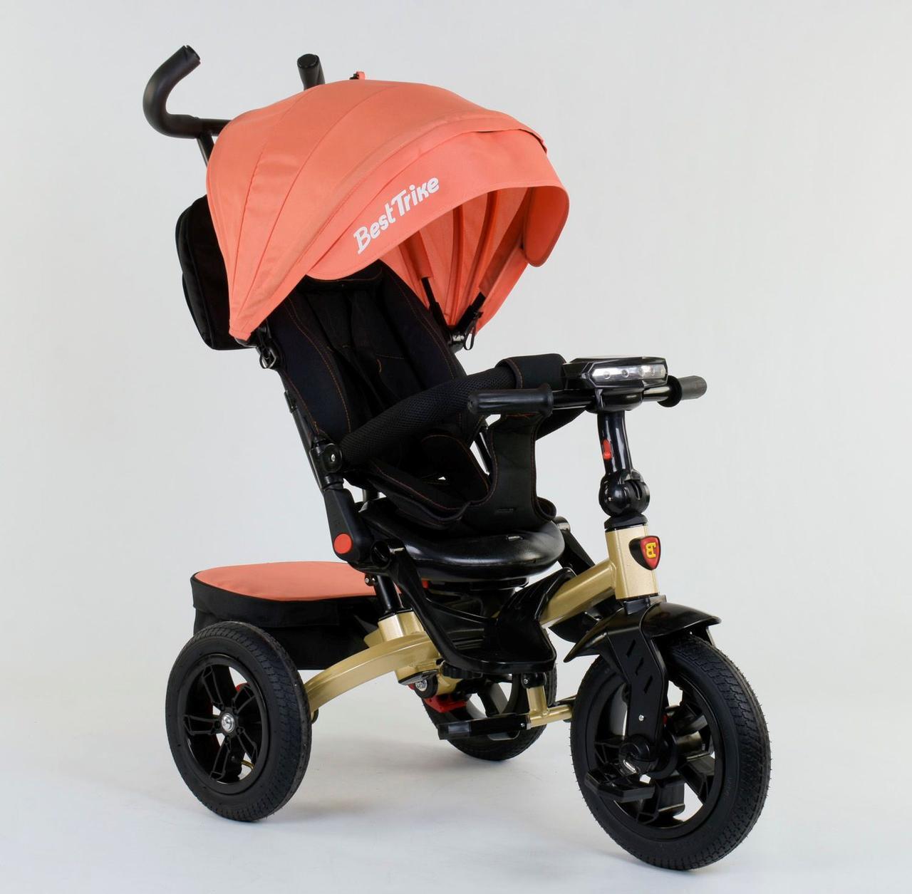 Велосипед 3-х колёсный 9500 - 9035 Best Trike (1) ПОВОРОТНОЕ СИДЕНЬЕ, СКЛАДНОЙ РУЛЬ, РУССКАЯ ОЗВУЧКА