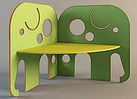 Стол детский угловой «Слон», ростовых групп № 1, 2, 3 — 1130x1146x1100 мм, фото 1