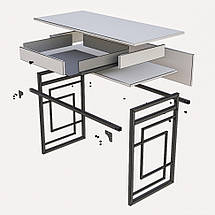 Стол рабочий Квадро (серия Loft) ТМ Металл-Дизайн, фото 2