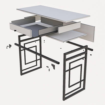 Стол рабочий Квадро ТМ Металл-Дизайн, фото 2