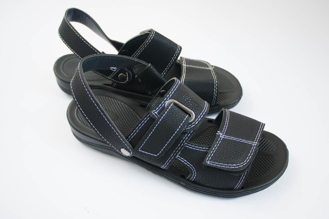 Мужские сандалии черные (Код: М-8 черный )