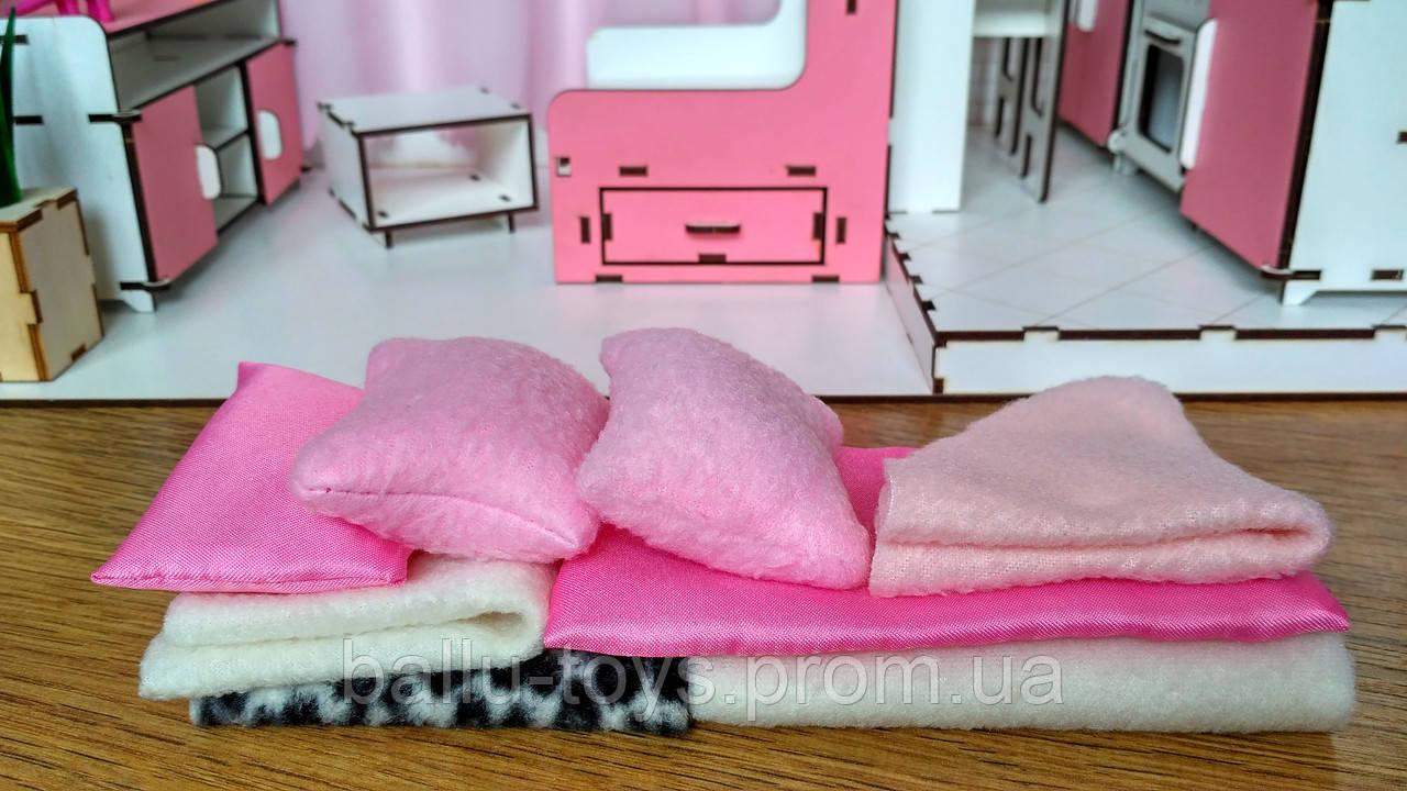 Набор текстиля для домика Barbie (8 предметов)