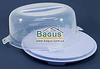 Тортовница круглая с крышкой 31cм пластиковая (цвет - фиолетовый) Алеана ALN-169056-4