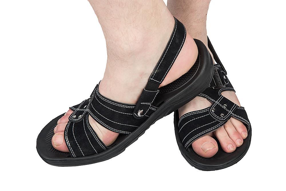 Мужские сандалии черные (Код: М-7 черный )