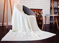 Вязанный плед 140х180 шерсть/акрил SoundSleep Carmel молочный