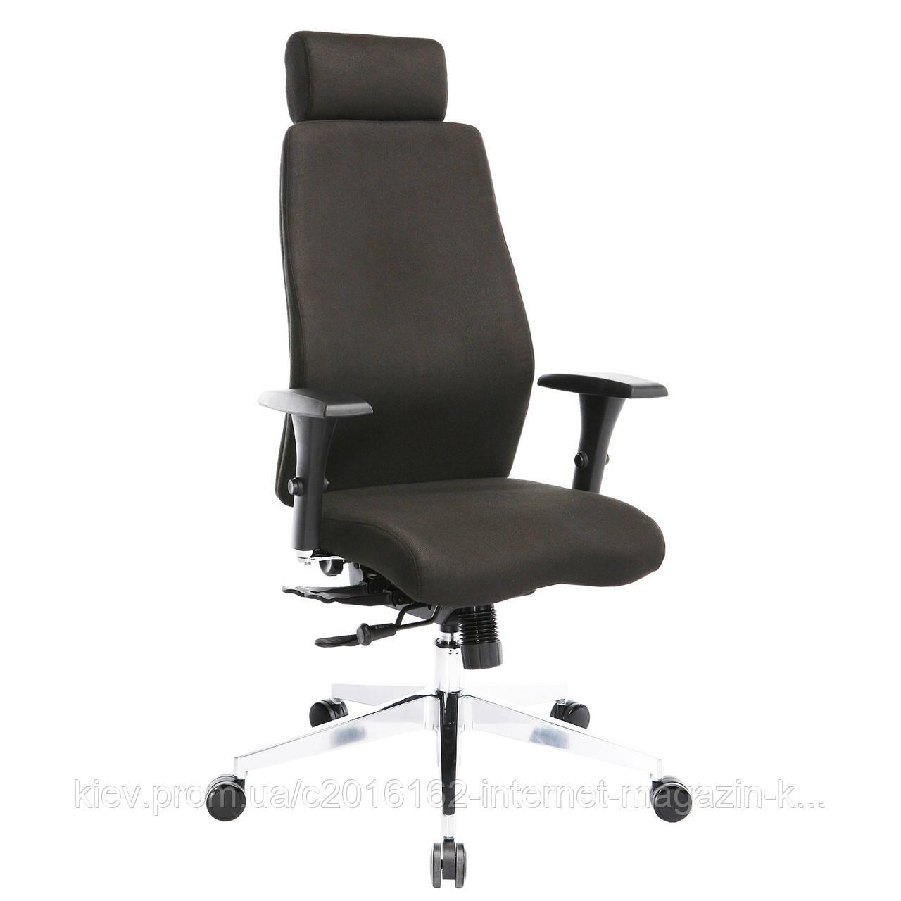 Кресло руководителя SMART EXTRA с подголовником черное