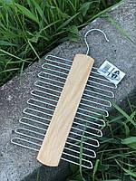 Деревянная вешалка для галстука, ремней и шарфов, фото 1