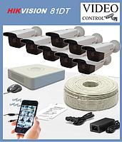 Комплект уличного видеонаблюдения 8 камер HIKVISION 81DT (1980×1080), фото 1