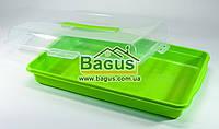Тортовница прямоугольная с крышкой 41х27х10cм пластиковая (цвет - салатовый) Алеана ALN-169057-3