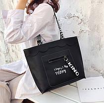 Оригинальная сумка шоппер с цветными ремешками, фото 2
