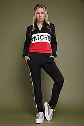 2584c89a3a9e Стильный женский спортивный костюм: кофта и штаны с надписями Snatched  Драйв черный с красным