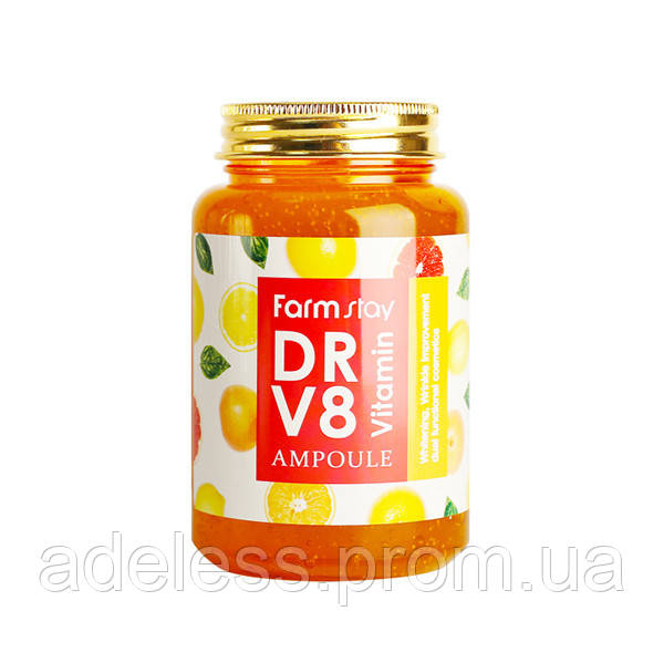 Витаминная освежающая сыворотка Farm Stay DR-V8 Vitamin Ampoule, 250 мл