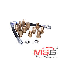 Комплект штуцеров для проверки насосов ГУР на стенде MSG MS00555 , фото 1