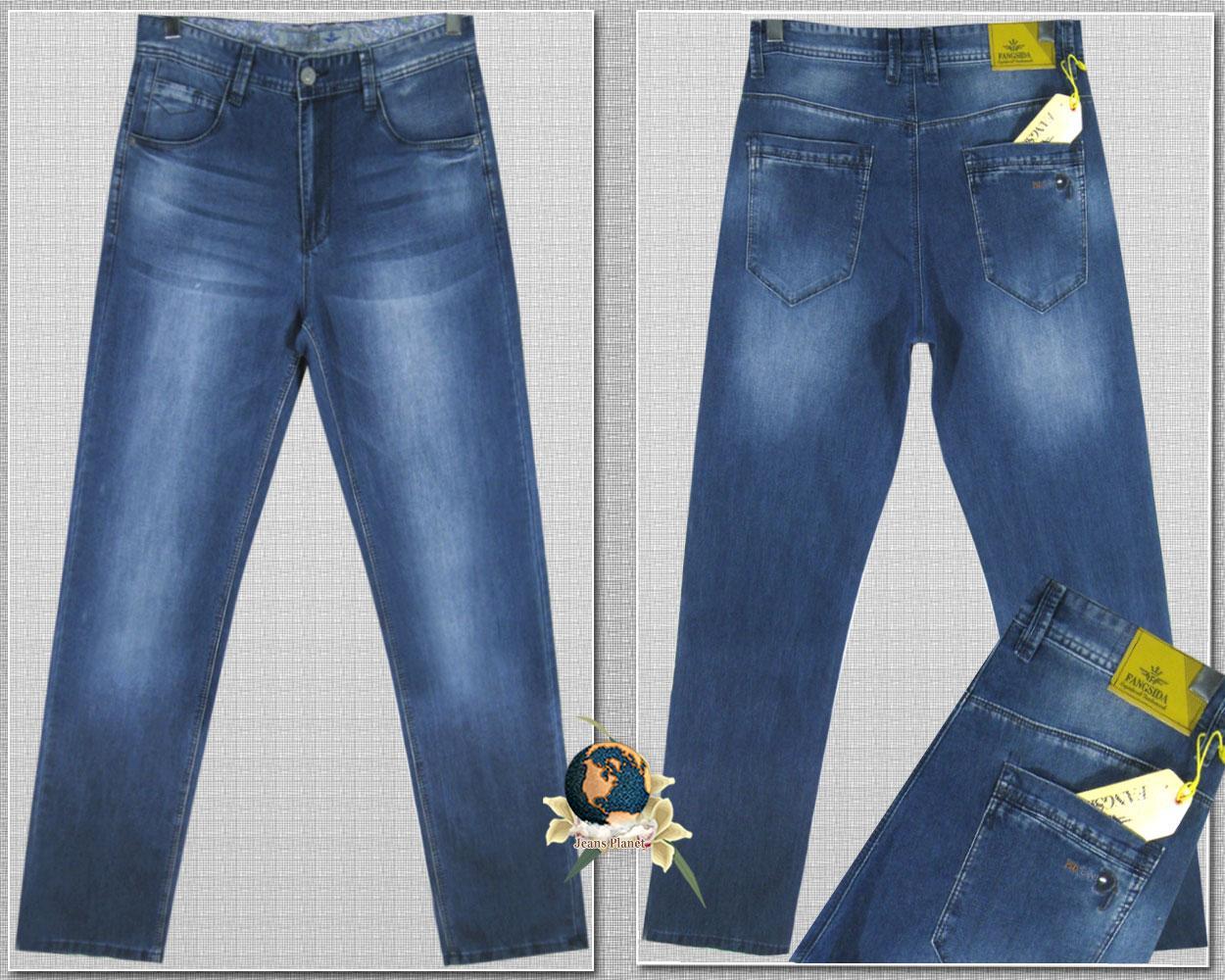Джинсы мужские летние классика Fangsida светло-синего цвета 36 размер