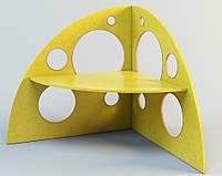 Стол детский угловой «Сыр», ростовых групп № 1,2,3 — 1245x1245x1030 мм