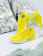 Кроссовки женские Nike Air Max 270 желтые ТОП реплика